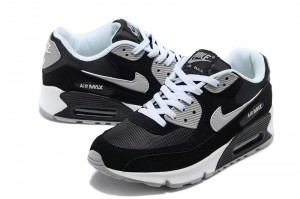 nike air max 90 mens shoes black grey white_03