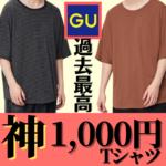【過去最高クラス】GUの新作Tシャツ1000円なのに高級感ヤバすぎて引いた。